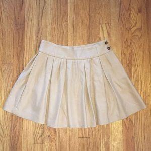 Zara khaki full pleated mini